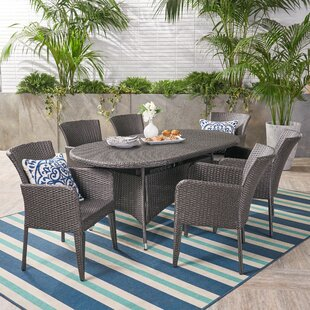 Idaho Falls Outdoor 7 Piece Dining Set