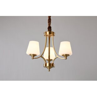 Sussman 3-Light Shaded Chandelier by Charlton Home
