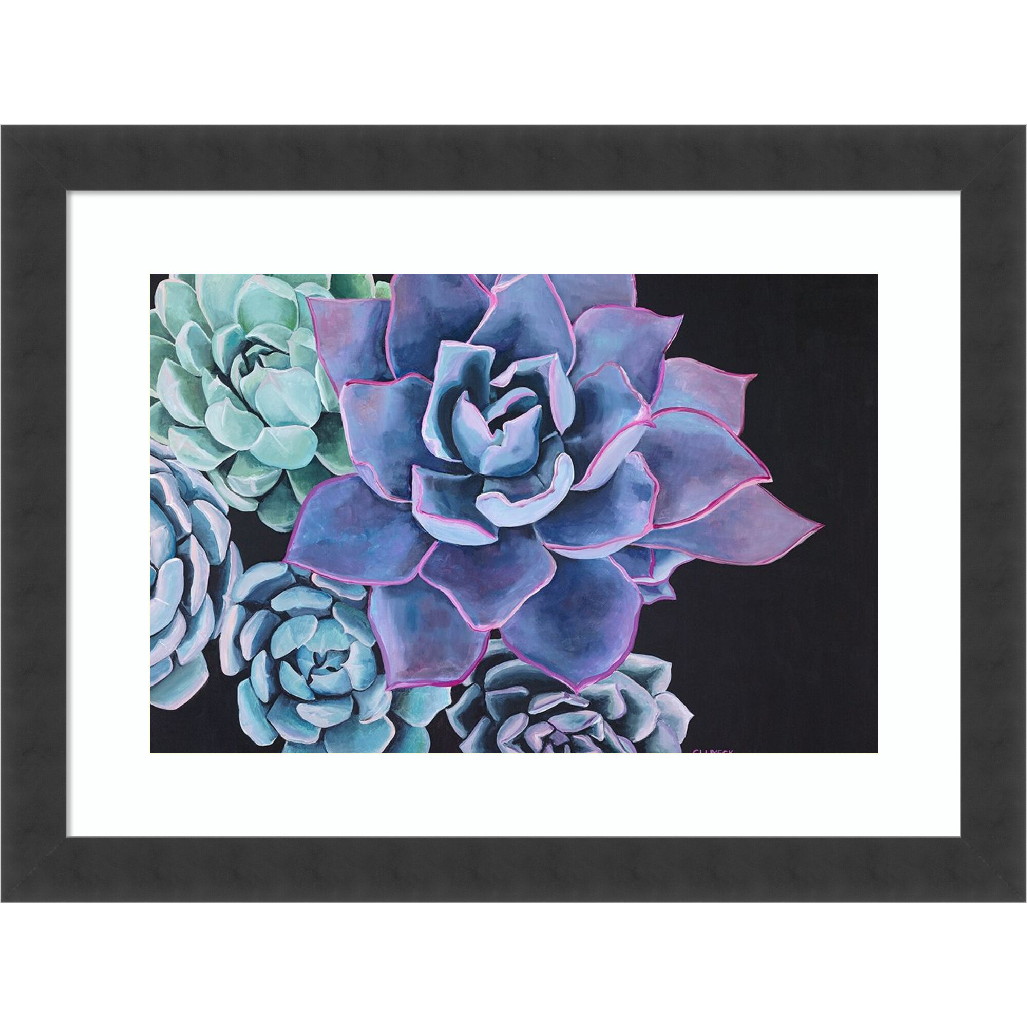 Dakota Fields Abundance Succulent By Alana Clumeck Picture Frame Painting Print On Paper Wayfair