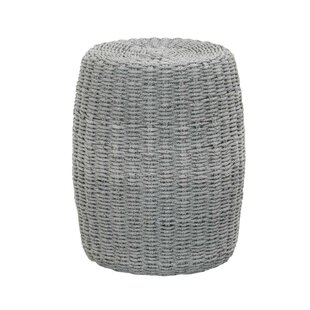 Brodnax Intricate Rope Weave Design End Table by Highland Dunes