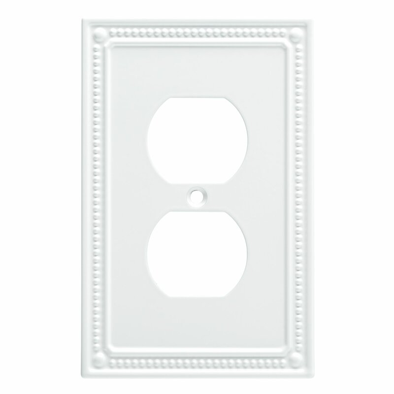 Franklin Brass Classic Beaded 1 Gang Duplex Outlet Wall Plate Reviews Wayfair