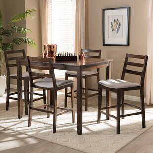 Hester Street 5 Piece Pub Table Set