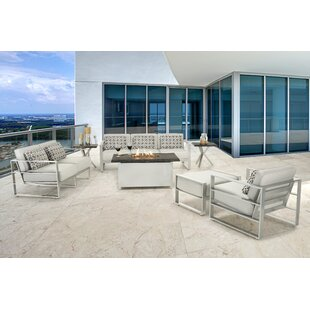 Horizons 7 Piece Lounge Seating Group With Sunbrella Cushions by Leona