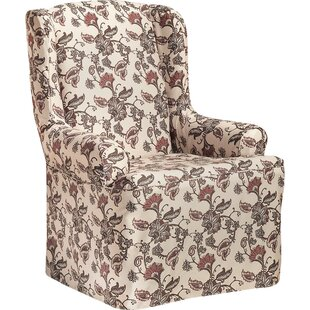 T Cushion Wingback Slipcover By CoverWorks