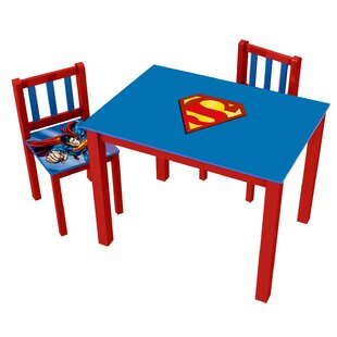 Superman Kids' 3 Piece Rectangle Table and Chair Set by O'Kids Inc.