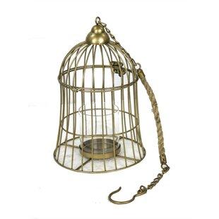 Elegant Bird Cage Hanging Metal Lantern by Breakwater Bay