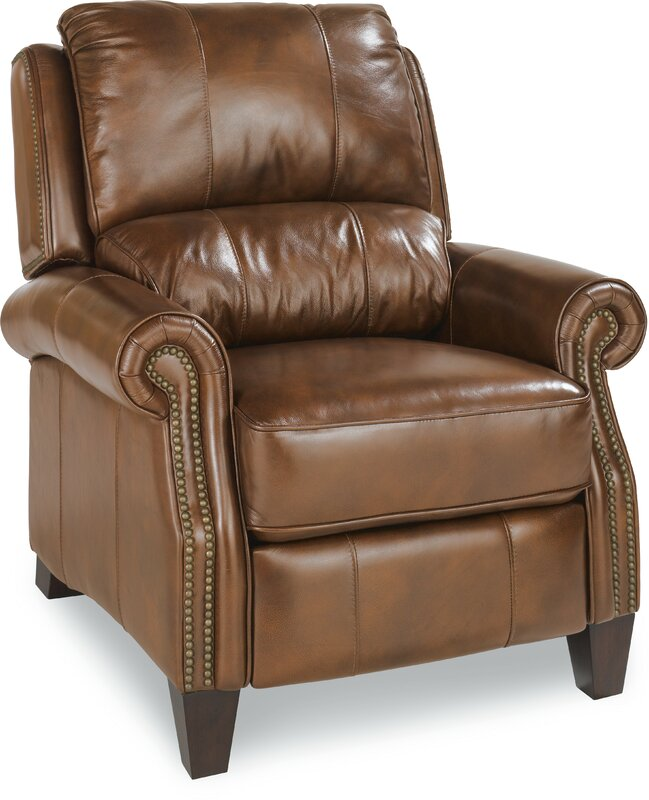 Tarleton Leather Manual Recliner  sc 1 st  Wayfair : la z boy wingback recliner - islam-shia.org