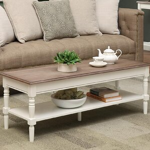 Callery Coffee Table with Magazine Rack by Charlton Home