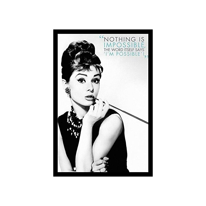 Buy Art For Less \'Audrey Hepburn - Nothing Is Impossible\' Framed ...