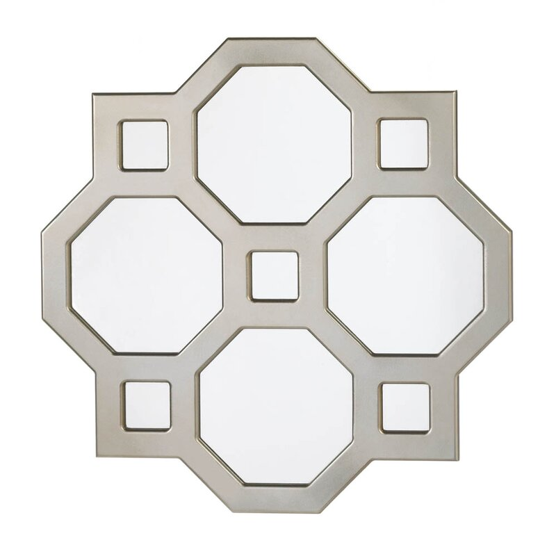Geometric Wall Mirror zingz & thingz geometric decorative wall mirror & reviews | wayfair