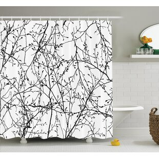 Borden Branches with Leaf Buds Shower Curtain ByWinston Porter