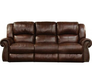 Messina Leather Reclining Loveseat by Cat..
