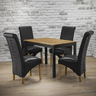 Review Usan Dining Set With 4 Chairs