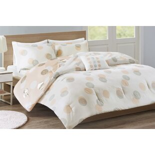 GrangeoverSands Metallic Dot Print Reversible Comforter Set