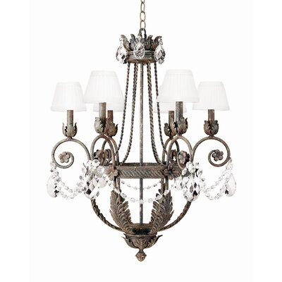 2nd Ave Design Antonia 6-Light Shaded Chandelier Finish: Tuscan Ivory, Shade: Tuscan Alabaster