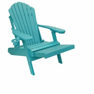 Hall Poly Lumber Plastic Folding Adirondack Chair