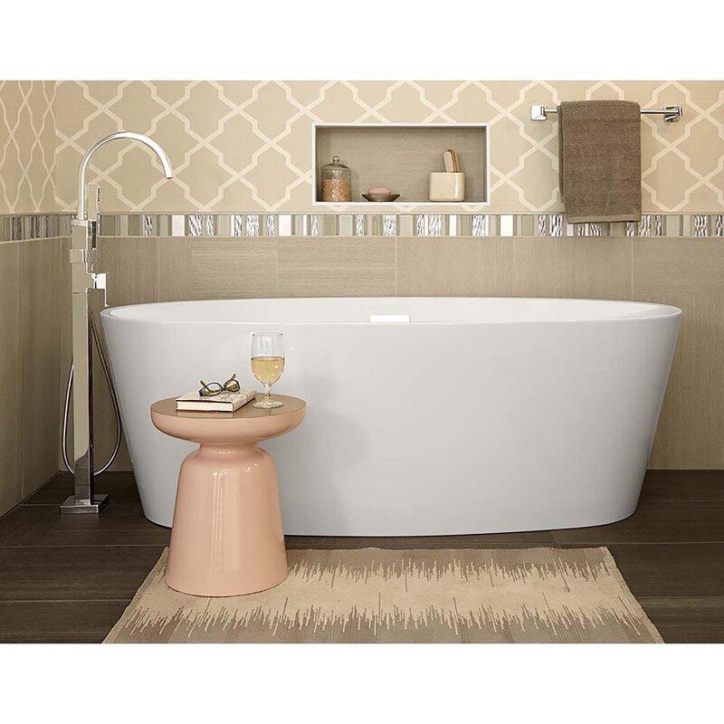 Single Handle Deck Mounted Freestanding Tub Filler With Handshower