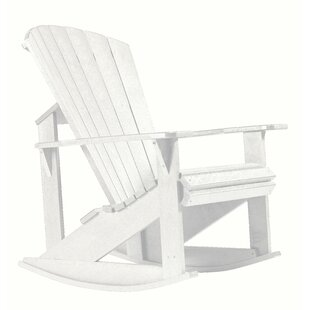 Alanna Plastic Rocking Adirondack Chair by Beachcrest Home
