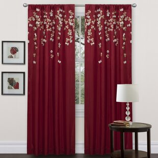 Riehl Nature/Floral Sheer Rod Pocket Single Curtain Panel by Willa Arlo Interiors