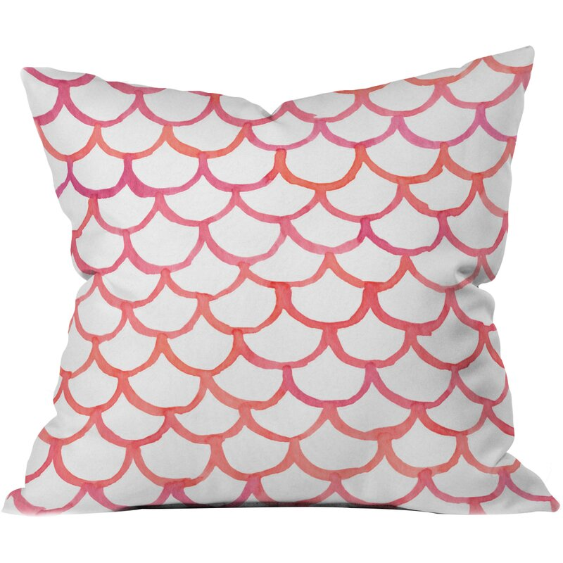 16 x 16 Deny Designs Zoe Wodarz Tropical Fruit Plate Outdoor Throw Pillow