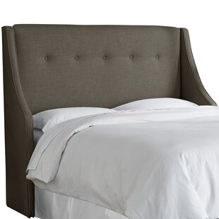 Latitude Run Andy Tufted Upholstered Wingback Headboard