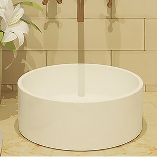 DECOLAV Classically Redefined Senna Ceramic Circular Vessel Bathroom Sink