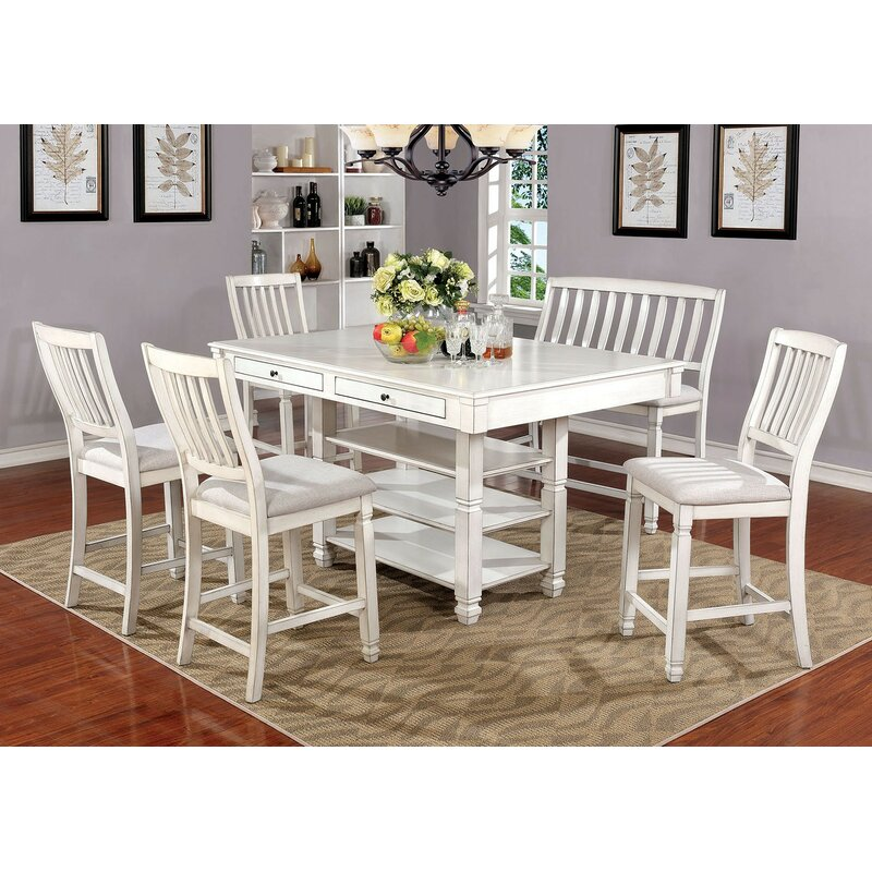One Allium Way Bettye 6 Piece Pub Table Set Wayfair