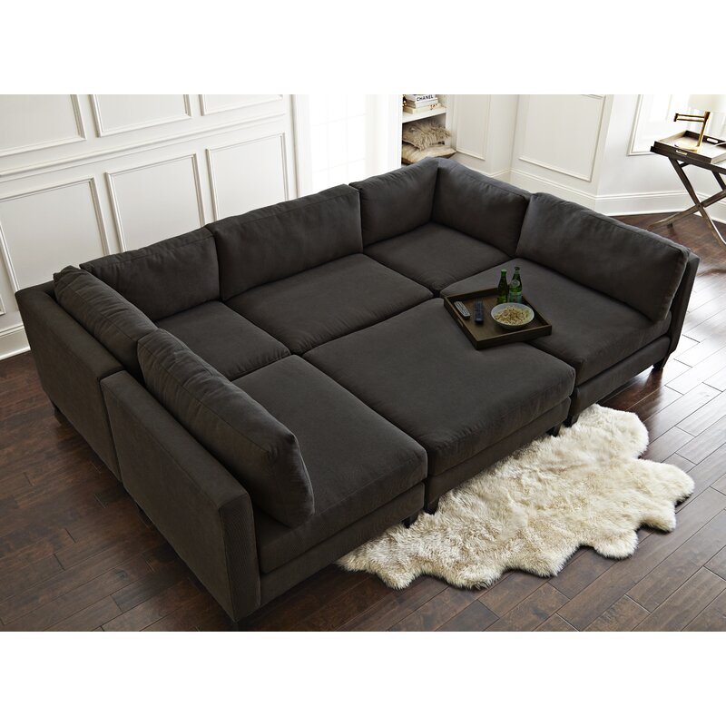 Home By Sean Catherine Lowe Chelsea 120 Wide Symmetrical Modular Sectional Reviews Wayfair