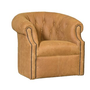 Cuellar Swivel Barrel Chair by Darby Home..