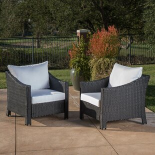 Alcott Hill Hoopes Wicker Patio Chair wit..