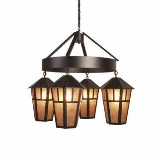 Steel Partners Oakland 4-Light Shaded Chandelier