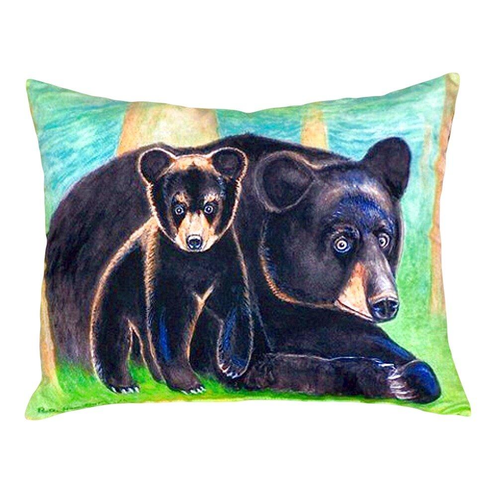Betsy Drake Interiors Bear And Cub Indoor Outdoor Lumbar Pillow Wayfair
