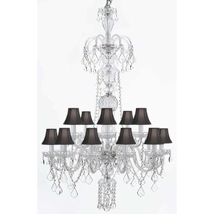 Rosdorf Park Doyle 11-Light Shaded Chandelier