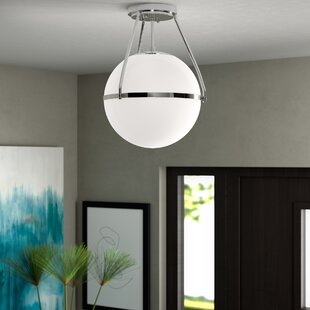 Michaela 1-Light Semi Flush Mount by Langley Street