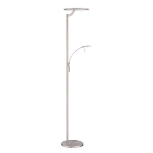 Reviews Oberon 72 LED Torchiere Floor Lamp By Kendal Lighting
