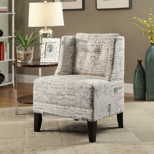 Holsey Wood and Dorris Fabric Slipper Chair by Charlton Home