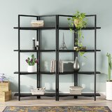 Kamari 70.08 H x 70.08 W Metal Etagere Bookcase by 17 Stories