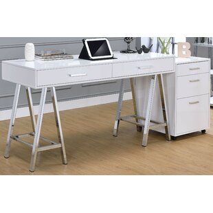 Manvel Writing Desk With File Cabinet by Orren Ellis Read Reviews
