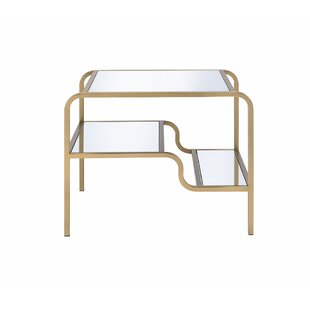Great choice Gauvin End Table by Everly Quinn