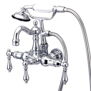 Best Vintage Wall Mounted Clawfoot Tub Faucet By Kingston Brass