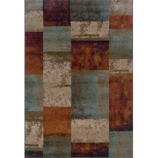 Carter Blue/Orange Area Rug byWinston Porter