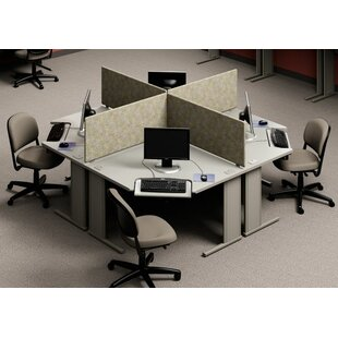 Beautiful WorkZone Stand Alone Corner Curvilinear Worksurface. By KI Furniture