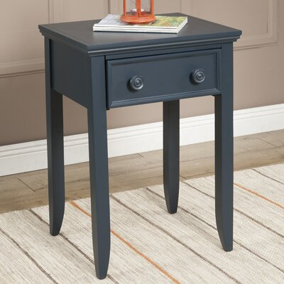 Baileyville 1 Wood Drawer Nightstand Color: Midnight Green by Beachcrest Home