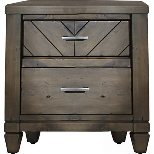 Laurel Foundry Modern Farmhouse Mazie 2 Drawer Nightstand