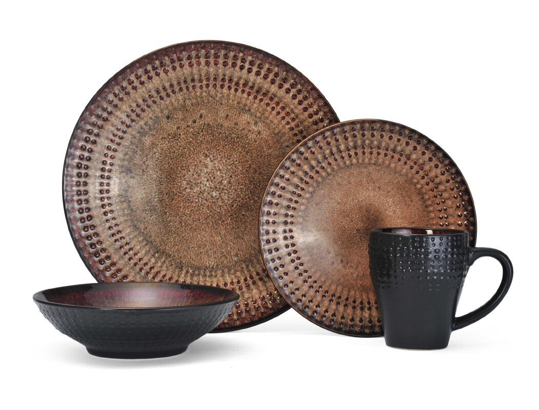 Cambria Everyday 16 Piece Dinnerware Set Service for 4  sc 1 st  Wayfair : every day dinnerware - pezcame.com
