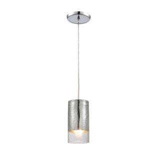 Orren Ellis Straub 1-Light Cylinder Pendant