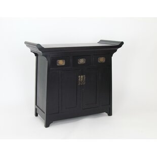 Scholl Oriental 2 Door Accent Cabinet by World Menagerie