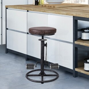 Bricelyn Adjustable Height Swivel Bar Stool by Williston Forge