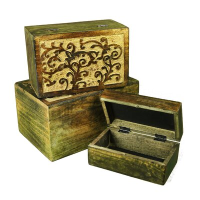 Melrose Intl 2 Piece Decorative Jewelry Box Set Reviews Wayfair