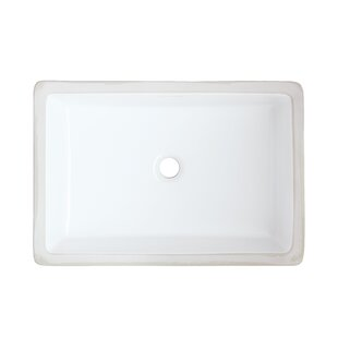Price Check Ceramic Rectangular Undermount Bathroom Sink with Overflow By Royal Purple Bath Kitchen